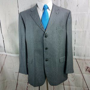 Jones New York Collection Gray Striped Suit Blazer